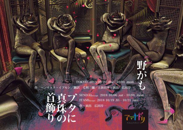 アマヤドリ2018  『ブタに真珠の首飾り』仙台公演